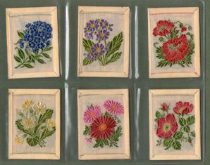 Tobacco cards set cigarette cards Kensitas Silk Flowers 1934